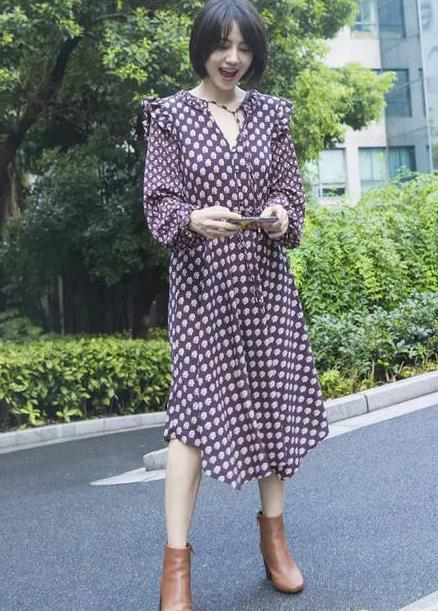明星2018秋季连衣裙:时髦星人气场全开