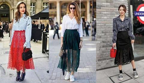 半身蕾丝长裙如何搭配,半身长裙潦倒男神搭配图片