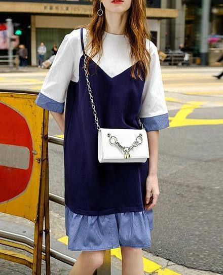 最流行的吊带假两件连衣裙:窈窕女人味(图)