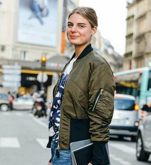 夹克外套绝对是妹子们春日穿搭的一大利器