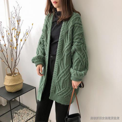 粗麻花针织外套 (5)