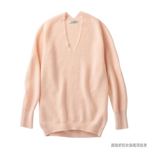 糖果色V领羊毛衫