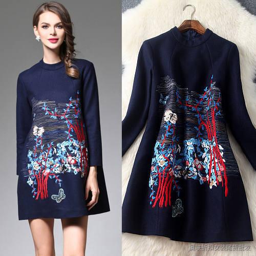 新式刺绣改良版旗袍唐装