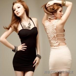 紧身立体横纹短裙