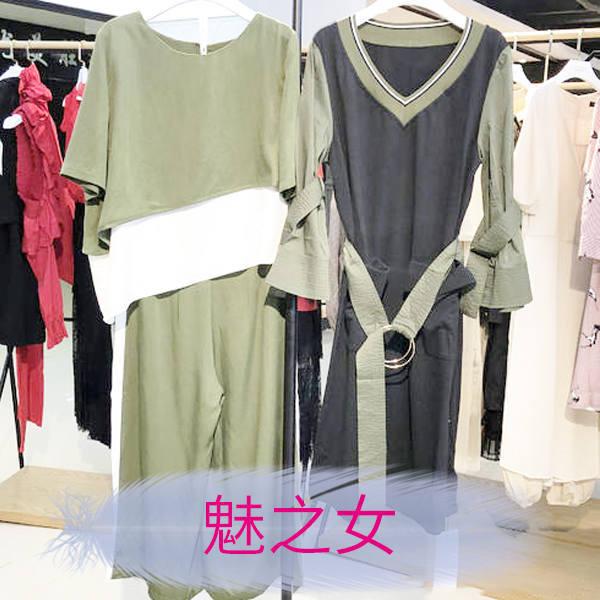 魅之女品牌女装折扣批发货源 折扣连衣裙批发多少钱