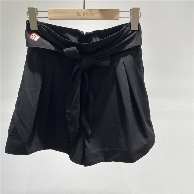 微信女装一手货源 宝贝玛丽品牌黑色短裤