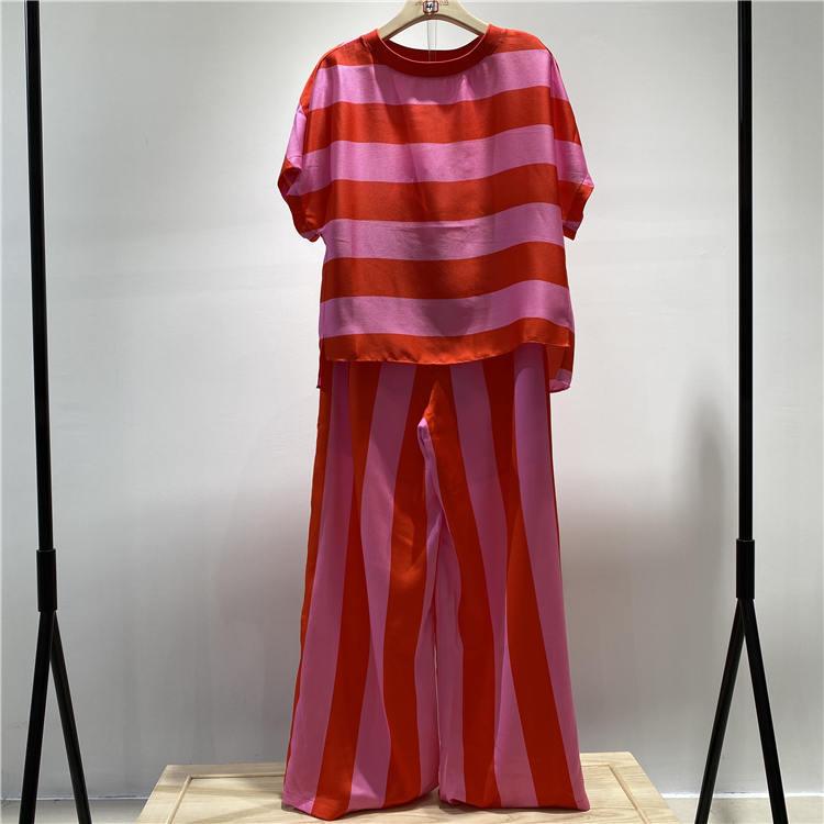 服装批发货源 宝贝玛丽品牌红白条纹T恤套装