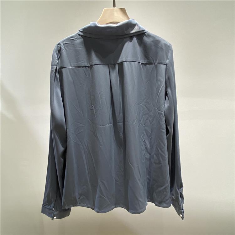 广州衣服批发 奥联优选简约风情简约风情OL蓝色衬衫