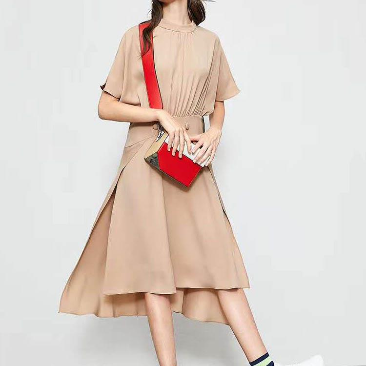 批发真丝连衣裙 衣全球品牌 品牌女装尾货好做吗